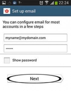 setup email android